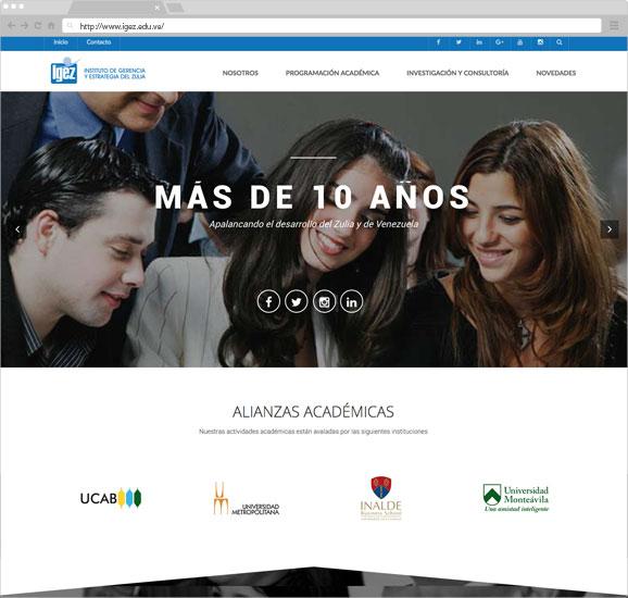 diseño-web-instituciones-edu-latam-vzla-igez-zuliatec