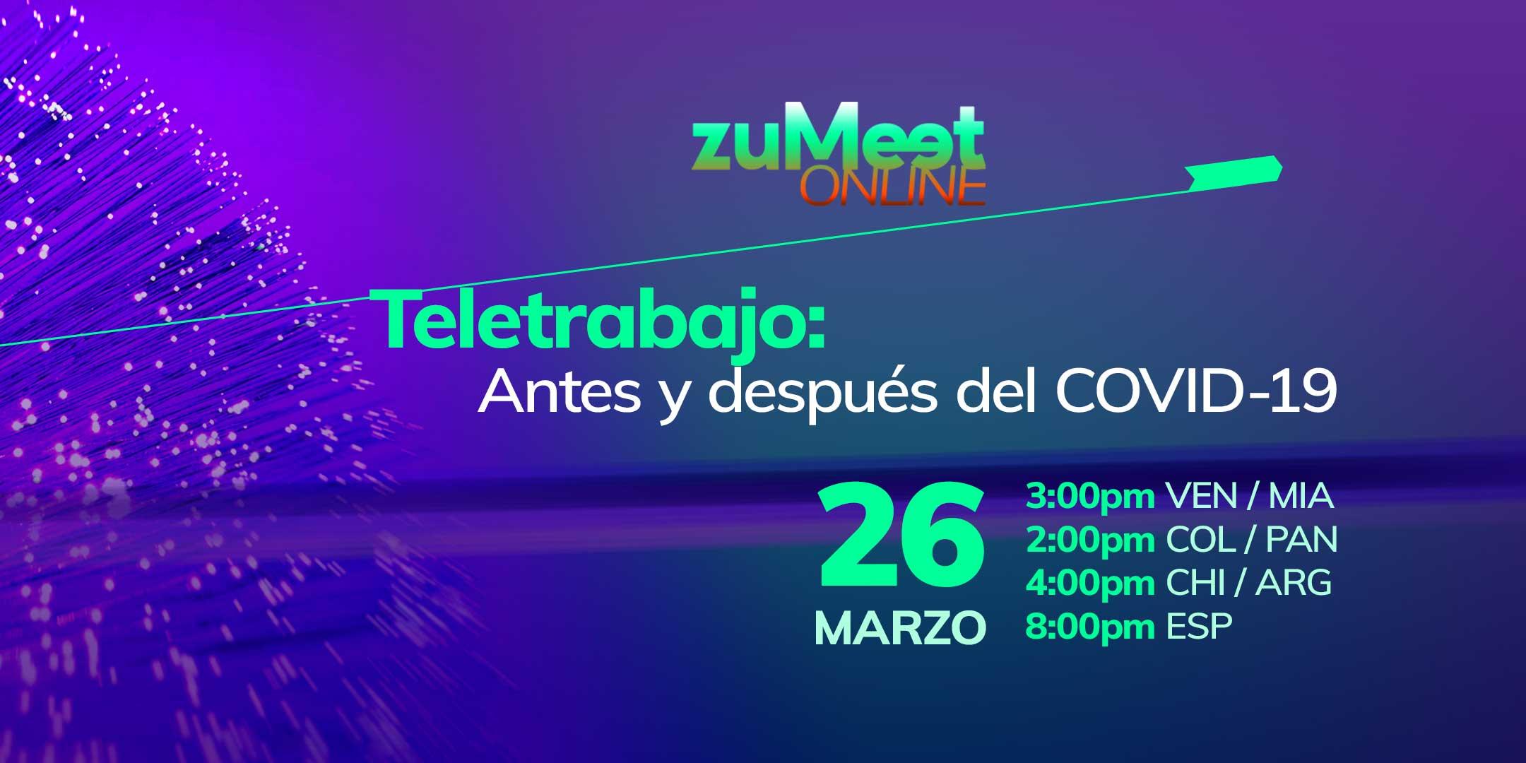 zuMeet Online La Experiencia del Teletrabajo-zuliatec